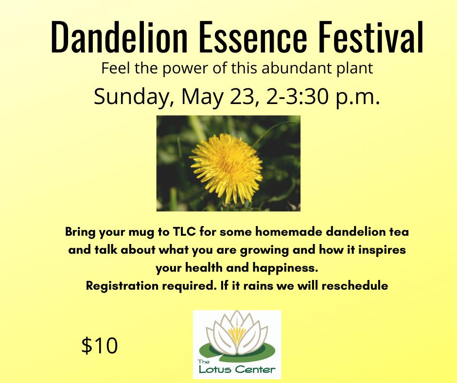 Dandelion Essence Festival